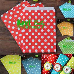 "Wholesale Colorful Dots - Colorful Dot Paper Bags 5""x7"" Reusable shopping bag for Necklace Braceet Earring Pendant Fashion Jewelry Pouches"