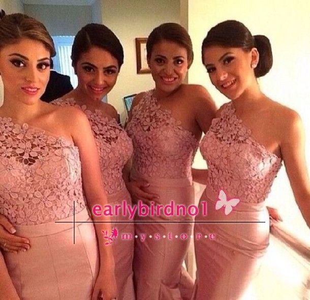 Wholesale 2014 Hot Cheap Bridesmaid Dresses Sexy V Neck Cap Sleeve Applique Chiffon A Line Long Evening Gowns vestidos formales