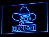 Wholesale Bud Light George Strait - a116-b Bud Light George Strait Bar Pub Neon Light Signs