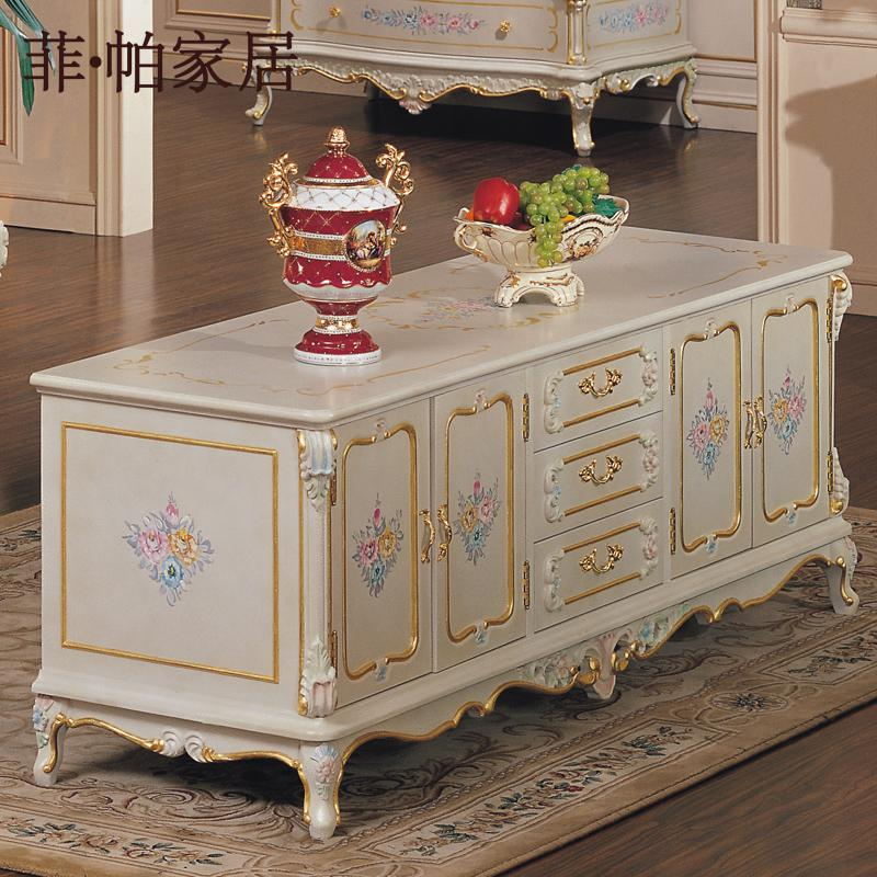 French Style Furniture Classic Dining Room Sets Luxury Home Living Cabinet Free Shipping