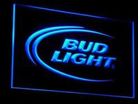 Wholesale Bud Light Blue - a003-b Bud Lite Beer Bar Pub Club Logo Neon Light Signs