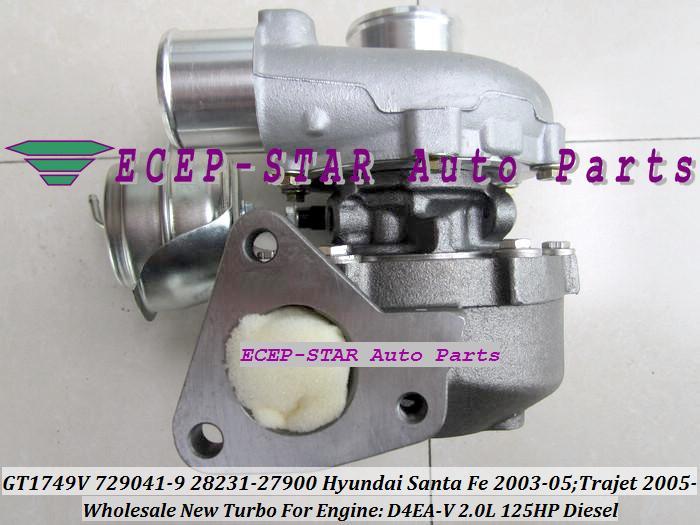 GT1749V 729041 729041-5009S 28231-27900 729041-0009 Turbo Turbocompressor Para Hyundai Trajet 02- Santa Fe CRDI 2003-05 D4EA D4EA-V 2.0L Euro 3
