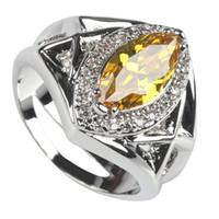 Wholesale Morganite Ring Silver Setting - Trendy Morganite cute fashion Silver Plated Cubic Zirconia ring R139 sz# 6 7 8 9 Vintage Rock
