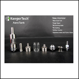 Wholesale Control Codes - Genuine Kangertech Aero tank Atomizer Aerotank Kanger Airflow Control Bottom Coil Clearomizer 100% Original with security code