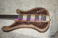 Wholesale China Custom Bass - Custom 4003 Bass 4 string Bass Guitar wood Manual sculpture Electric bass colored VOS Speical Offer Made in China free shipping
