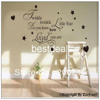 "Wholesale Vinyl Quotes For Home Windows - Promotion Twinkle Twinkle Little Star..."" English Quote Saying Vinyl Wall Art Decals Window Stickers  Home Decor"