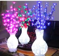 Wholesale Led Cherry Flowers - LED luminous vase lamp novelty Arts & crafts a new product LED cherry