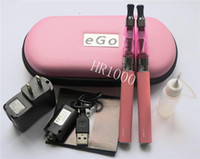 Wholesale Ego Ce6 Double Kit - e cigarette EGO CE4 double starter kit in zipper bag, OEM ego-t ego c ego w battery with clearomizer ce4 ce4s ce5 ce6 ce7 evod protank dct
