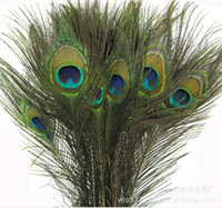 Wholesale 25 peacock feathers - 25 -30 CM Genuine Natural Peacock Feather Elegant Decorative Accessories For Party Decoration 200pcs lot Free Shipping