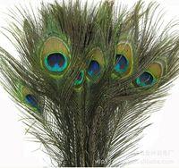Wholesale peacocks decorations resale online - 25 CM Genuine Natural Peacock Feather Elegant Decorative Accessories For Party Decoration