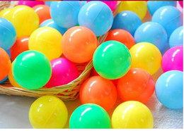 Wholesale Soft Inflatable Plastic Balls - Hot sale 20pieces 7cm Ocean ball pool toys baby toys baby pool dedicated beach ball 7cm free shipping