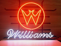 Wholesale White Lager - NEW WILLIAMS PILL ARCADE REAL GLASS NEON LIGHT GAME ROOM BEER LAGER BAR SIGN