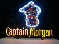 Wholesale NEW CAPTAIN MORGAN RUM PIRATE REAL NEON BEER BAR PUB LIGHT SIGN