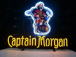 Wholesale rum signs - NEW CAPTAIN MORGAN RUM PIRATE REAL NEON BEER BAR PUB LIGHT SIGN
