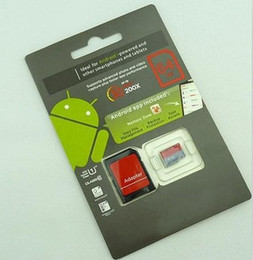 Wholesale Sd Card Blister Packaging - 128GB 64GB 32GB 128G Class 10 Micro SD Card Android Robot SDHC 64GB C10 TF Memory Cards with SD Adapter Blister Packaging DHL Shipping