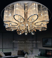 Wholesale Luxury Lighting Fixtures - Promotion ! Modern Luxury Living Room Ceiling Lamp Fixture Crystal Chandelier Lighting