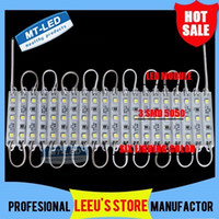 Wholesale Smd 65 - 100PCS Lot Free shipping LED module light lamp SMD 5050 IP 65 waterproof LED modules for sign letters LED back light 3 led 0.72W 42lm DC 12V