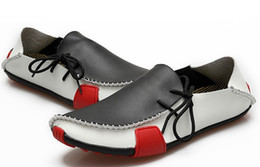 Wholesale Driver Shoes Men - Free Shipping genuine leather loafers men's fashion casual slip on driver shoes