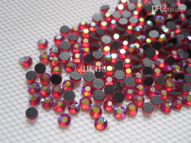 10SS 2.8MM Crystal Strass DMC Hot Fix Rhinestone Iron On Hotfix Pietre Deep Dark Siam AB SS10