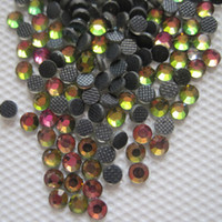 Wholesale Rhinestone Iron Rainbow - 10SS 2.8MM Crystal Strass DMC Hot Fix Rhinestone Iron On Hotfix Stones Rainbow AB SS10