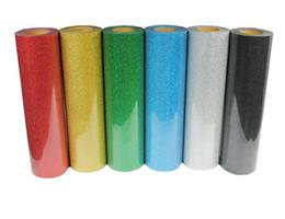 Wholesale Wholesale Pressing Shirt - 6 pieces 50cm*100cm T shirt heat press film  PET Glitter Heat Transfer Vinyl by Cutter Press