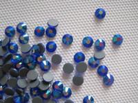 mavi düzeltme toptan satış-16SS 4MM DMC HotFix Kristal Strass Çizgili Demir-On Jet Siyah Hot Fix Cam Taşlar SS16