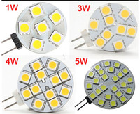 Wholesale Led 1w G4 - DC 12V G4 1W 2W 3W 4W 5W Home Car RV Marine Boat LED Light Bulb Lamp 6 leds 9 leds 12 leds 24 leds 5050 SMD 12V Free Shipping