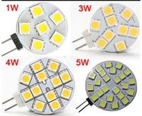 12v led glühbirnen boote großhandel-Glühlampe-Lampe DC 12V G4 1W 2W 3W 4W 5W Hauptauto-RV-Marineboot-LED 6 LED 9 LED 12 LED 24 LED 5050 SMD 12V Freies Verschiffen