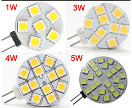 Wholesale G4 Led 12v 4w - DC 12V G4 1W 2W 3W 4W 5W Home Car RV Marine Boat LED Light Bulb Lamp 6 leds 9 leds 12 leds 24 leds 5050 SMD 12V Free Shipping