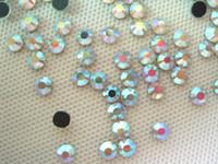 Wholesale hot fix rhinestone crystals - 16SS 4MM DMC HotFix Crystal Strass Rhinestone Iron-On Crystal AB Hot Fix Glass Stones SS16