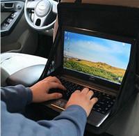 Wholesale Laptop Bag Desk - On-board Computer Support Car Computer Desk Car Laptop Holder Desk Dining Table Folding Car Computer Holder Desk Mount Glove Bag