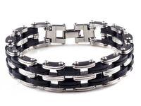Wholesale Unique Men Bracelets - NEW Unique Sliver Color Titanium Steel Bracelet, Stainless Steel Bacelet for Man 1PCS Free Shipping[B577]