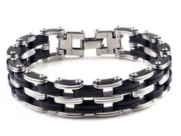 Wholesale Unique Steel Bracelet - NEW Unique Sliver Color Titanium Steel Bracelet, Stainless Steel Bacelet for Man 1PCS Free Shipping[B577]