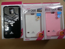 Wholesale Mercury Jelly Case - Wholesale free shipping - Mercury GOOSPERY color Pearl Jelly cases TPU cases for Galaxy S5 S V G900 G900h I9600