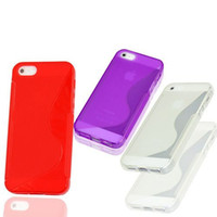 Wholesale I Phone 5g Cover - Soft Case S Line cover Silicone TPU Case Skin for Apple I phone 5g, ultra thin clear gel TPU case for iPhone 5