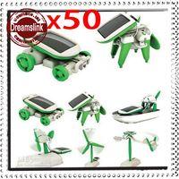 Wholesale Educational Solar Kit Robotikits Toy - Wholesale - 50Sets 6-in-1 DIY Educational Solar Panels Kit Assemble Toys Robotikits Toys Christmas Children's Gifts opp bag FREE SHIPPING