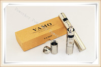 Wholesale Vapor Mod Vamo Stainless Steel - Huge vapor Variable Voltage Vamo V5 Body Chrome Black Chrome Stainless Steel VV Mod