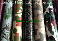 Wholesale Full Drain - Forest Camo Vinyl wrap 'Stealth' Camouflage   Camo Air Drain Vinyl - Car Wrap   Sticker Full Car covering 1.52x30m Roll