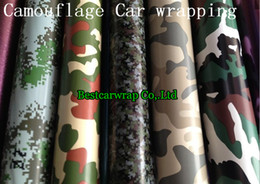 camouflage sticker roll NZ - Forest Camo Vinyl wrap 'Stealth' Camouflage   Camo Air Drain Vinyl - Car Wrap   Sticker Full Car covering 1.52x30m Roll
