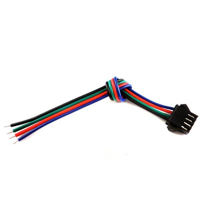 30のセットコネクタ4ピン3528/5050 RGB LEDストリップ男性と女性
