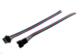 Wholesale Strip Pins - 50Sets JST 4 PIN Male Female RGB Connector Wire Cable 3528 5050 SMD LED Strip Light