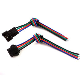 30-Satz-Stecker 4-polig mit Draht für RGB-LED-Streifen mit Stecker und Buchse 3528/5050 von Fabrikanten