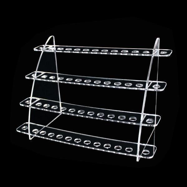 Acrylic e cig display showcase show shelf ego holder rack for ecig electronic cigarette ce5 ce6 vivi nova dct bcc 510 drip tip DHL