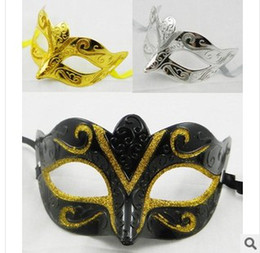 Wholesale Mens Silver Mask - Wholesale - 2017 New Lowest Free Shipping Mens jazz Mask Halloween Masquerade Masks Venetian Dance party Mask