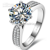 Wholesale Ct Shipping - Wholesale - 3 ct synthetic diamond rings sterling silver wedding bands for women engagement rings for women white gold 18k drop shipping