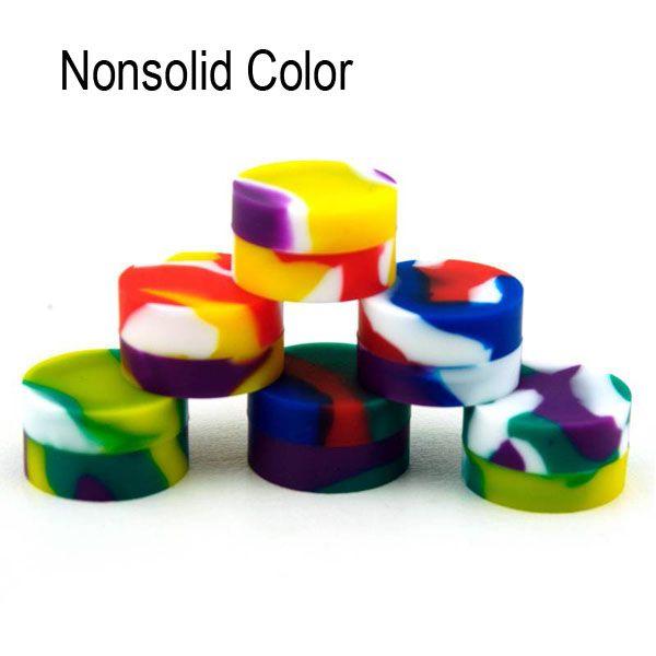 Nonsolid color puro cera Wax Dry Herb Jars Dab contenitore rotondo in silicone per erba secca atomizzatore AGO G5 Wax vaporizzatore e sigaretta