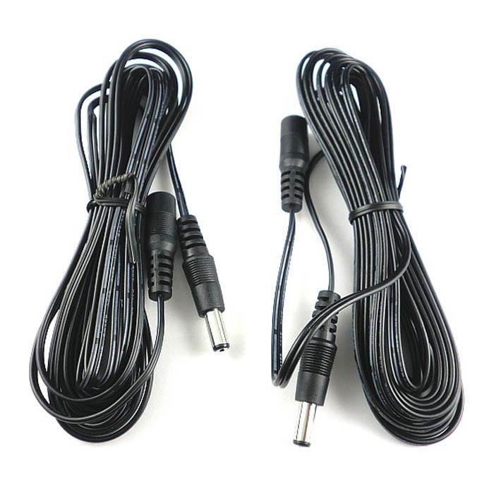 50 x 4m DCの延長電源コードケーブル2.1mm / 5.5mmの男性の女性CCTVプリンターエクステンダー送料無料