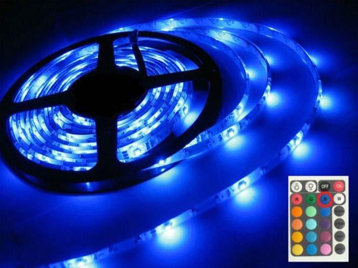 10 × 5M 12V 3528 SMD RGB 300LEDs الصمام ضوء قطاع مصباح 24Key IR تحكم عن بعد