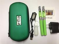 Wholesale Ego Ce6 Double Kit - e cigarette EGO CE4 starter kit in zipper bag double ego zipper kit ego-t ego-c ego-w battery clearomizer ce4+ ce4s ce5 ce6 MT3