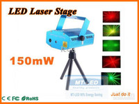 Wholesale Cheap Stage Lasers - FEDEX Free Shipping Cheap 150MW Mini Red & Green Moving Party Laser Stage Light laser DJ party light Twinkle 110-240V 50-60Hz With Tripod